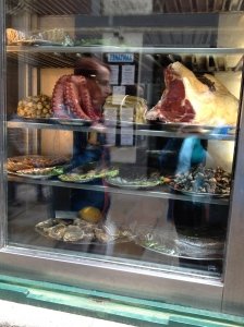 What will we have for dinner, the octopus or the steak?